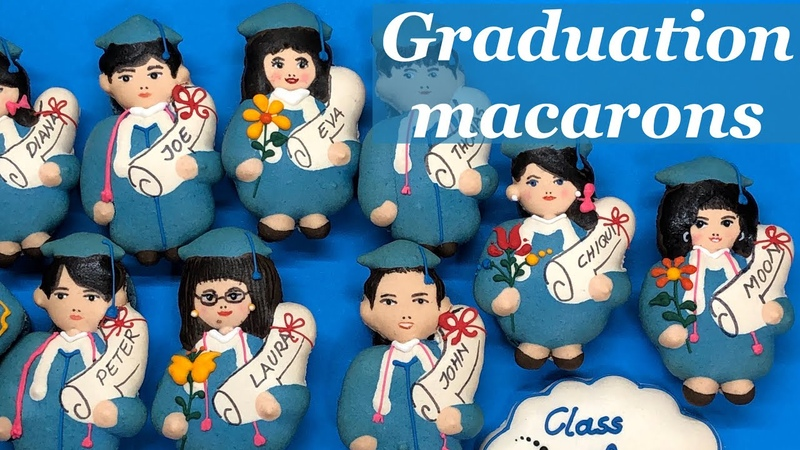 Graduation macarons personalized