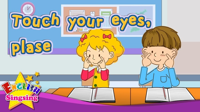 [Imperative sentence] Touch your eyes, please - Exciting song - Sing along