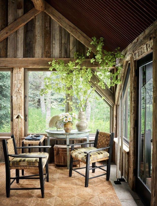Идилический дом с видом на горы в Вайоминге, США