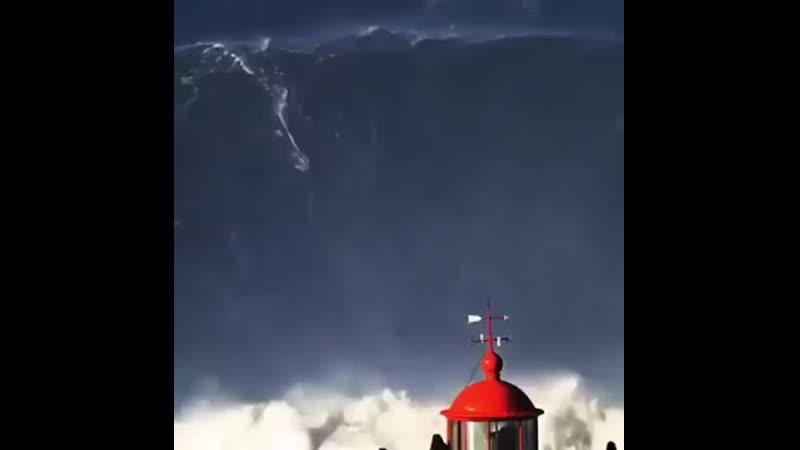Бразильянка побила Мировой рекорд волна 30 м mp4