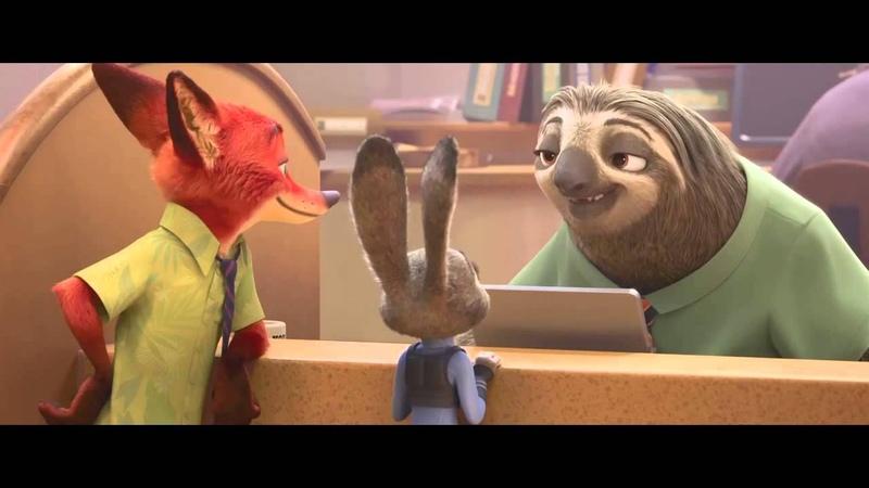 Ленивцы Очень смешной момент из Зверополиса
