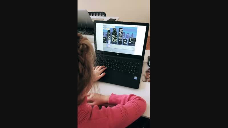 Новикова Полина, Scratch, 7 лет, Coddyschool
