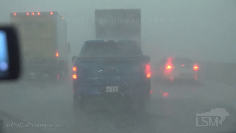 5 27 2020 Waco Texas Hail Storm Cars Under Overpasses Slow Traffic