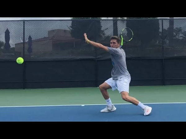Tennis Training Serve 1 Return 1 with Coach Brian Dabul and College player D1 Martín Mendoza