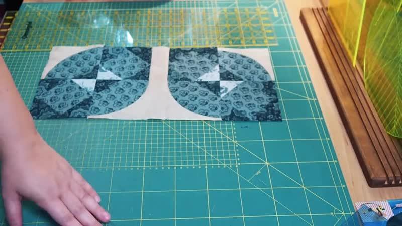 Inspiration patchwork quilt block Drunkards path Storm Tutorial
