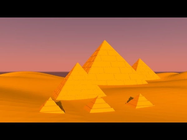 Pyramids of Egypt low poly landscape 3d modeling Autodesk Maya Tutorial