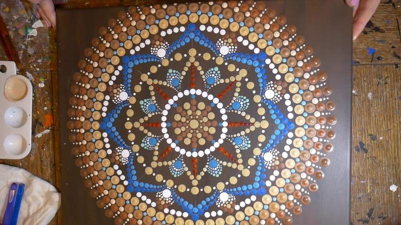 How to paint dot mandalas with Kristin Uhrig-33 Dreamcatcher part 2