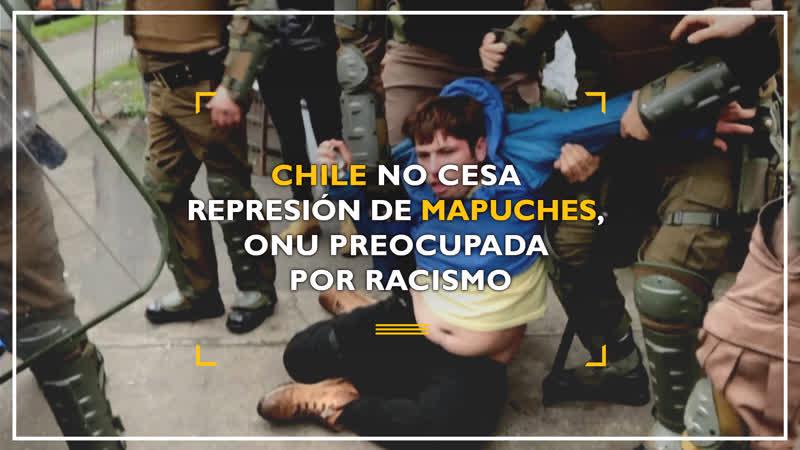 Chile no cesa represión de mapuches ONU preocupada por racismo