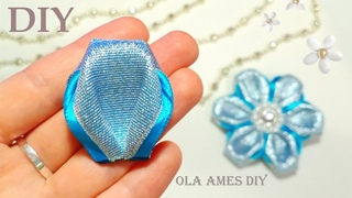 ❄️Amazing Kanzashi Flower❄️ ЦВЕТЫ из ЛЕНТ ❄️ Канзаши/ Easy Flower Making/ Ribbon Tricks/Ola ameS DIY