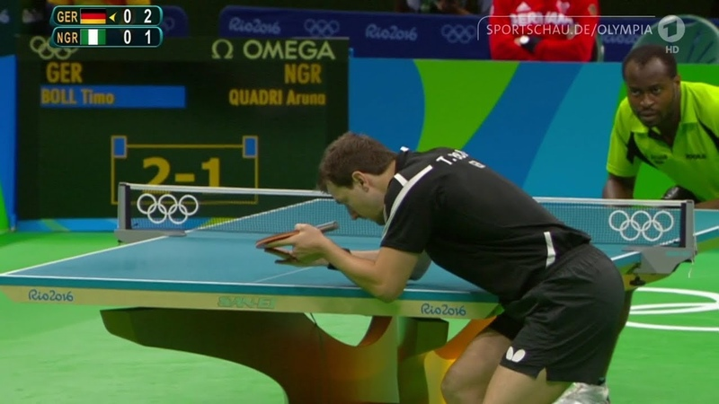 Throwback   Timo Boll vs Aruna Quadri   2016 Rio Olympics