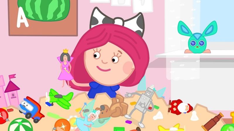 En la guardería infantil Smarta y su bolso mágico Dibujos animados para niños en español