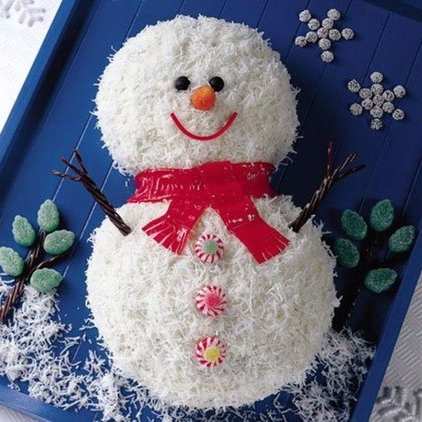"Торт ""Снеговик""."